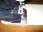 Use a buttonhole foot when sewing the bartack.