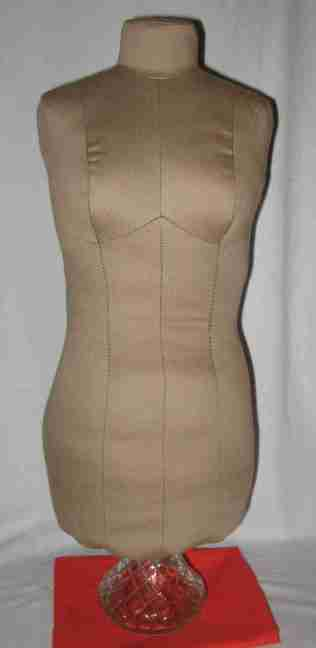 fabric dress form front