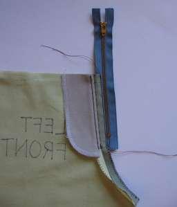18 zipper stitched on