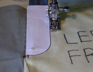 25 second row of topstitching