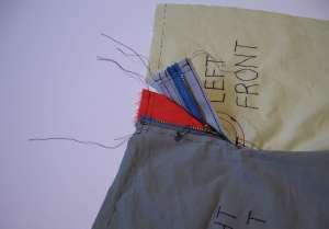 39 zipper tape trimmed