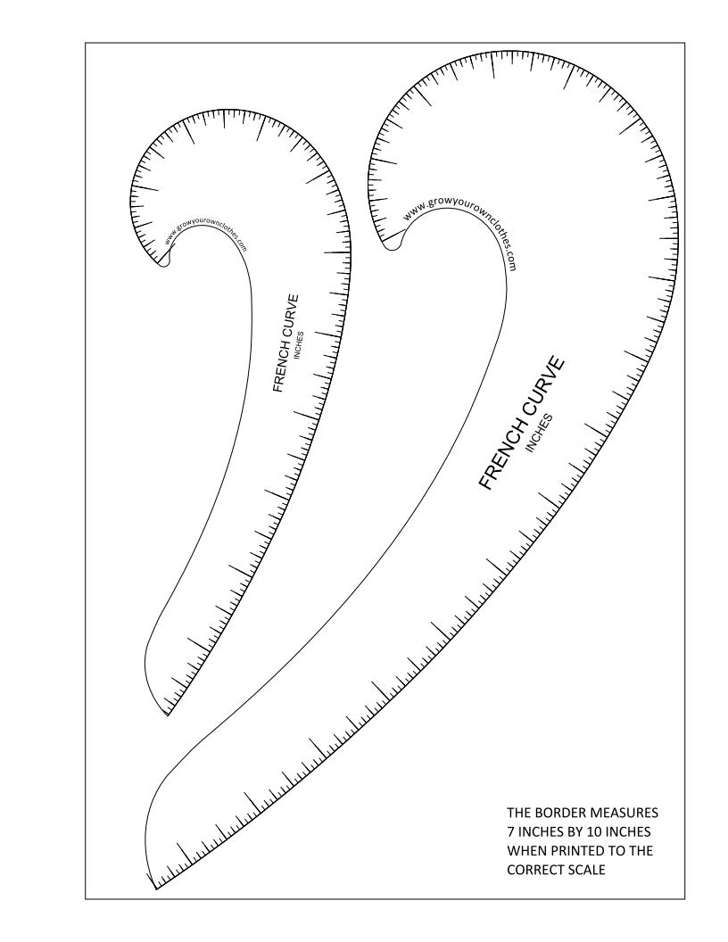 Printable French Curves
