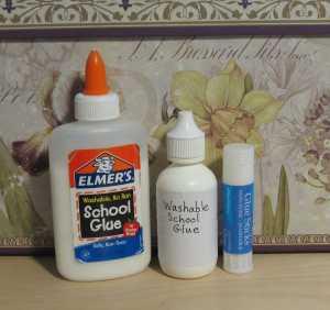 washable glue and glue stick