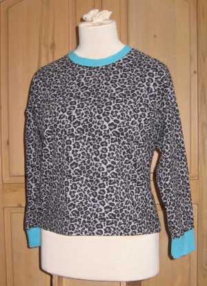 Leopard print pajama top