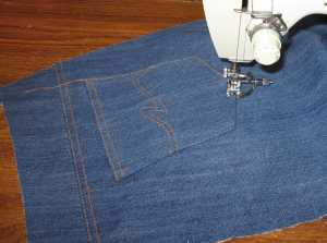 10. Use a blind hem foot or other guide to stitch 2.5 mm from the edge.