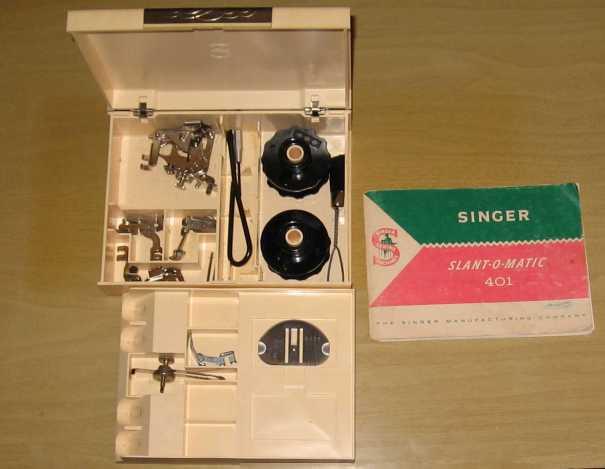 Singer 401A accessories