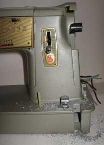 Singer 328K cut out for treadle belt