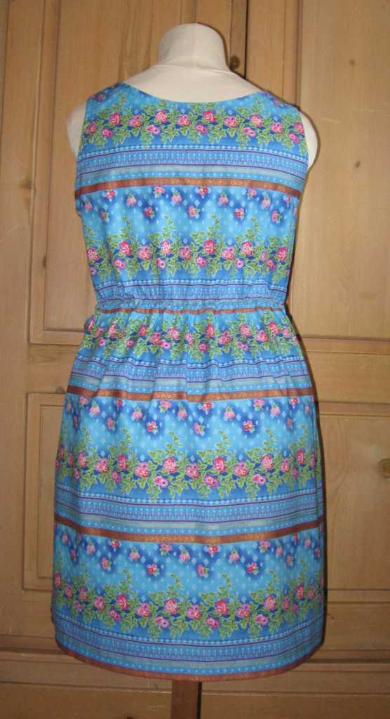 blue summer dress back