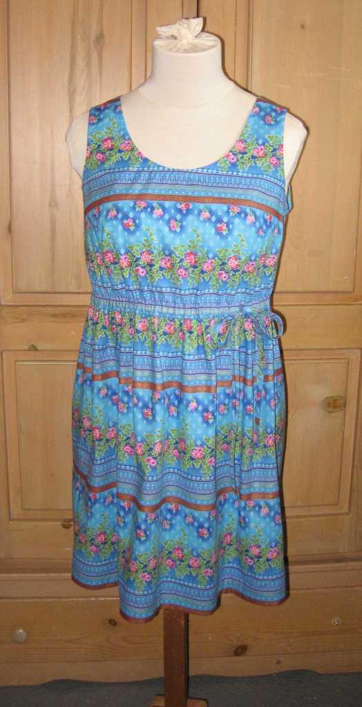 blue summer dress front