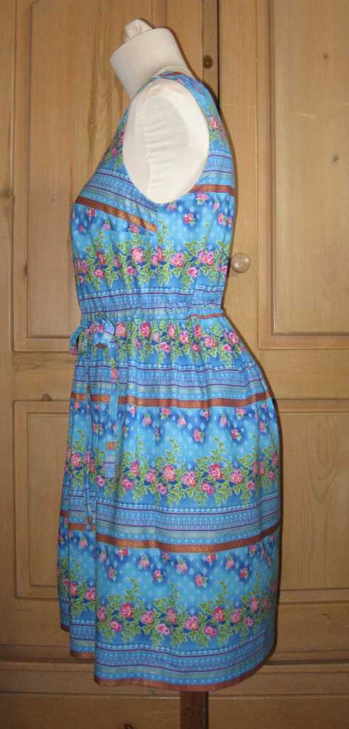 blue summer dress side