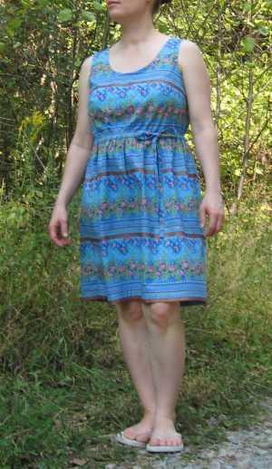 blue summer dress