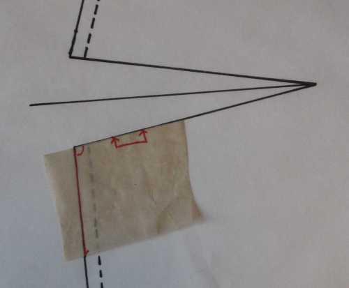 dart 4 paper scrap marked