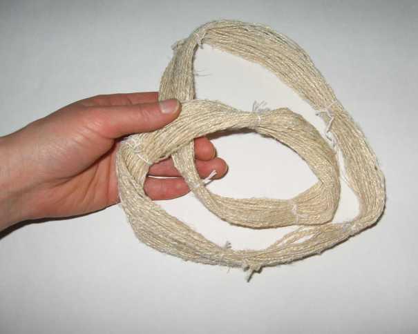scoured double ply linen yarn