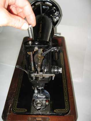Singer 99k presser spring removal 1