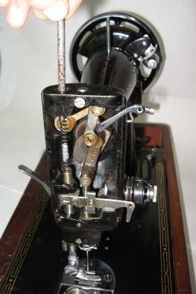 Singer 99k presser spring removal 2
