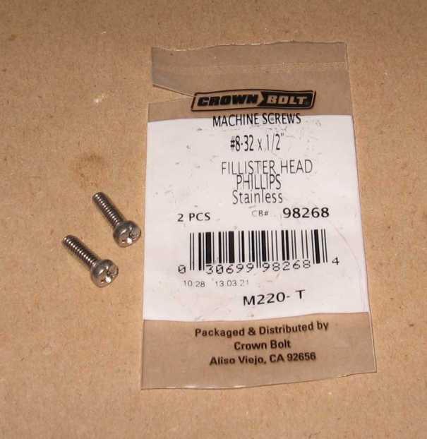 FillisterHead8-32Screws