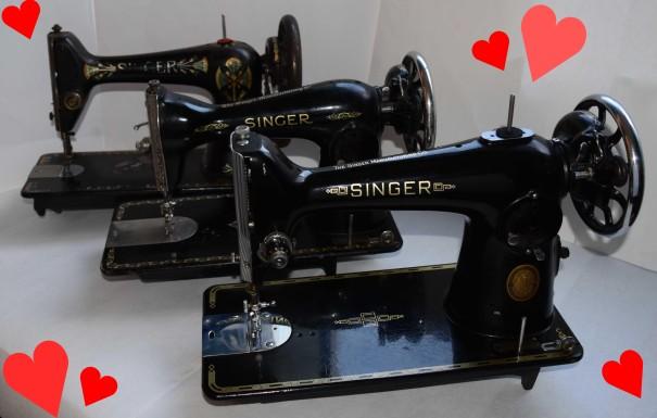 Singer 201-1 15 66 Hearts2