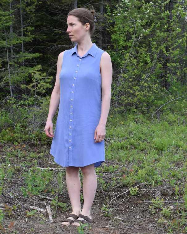 Alder dress sidefront