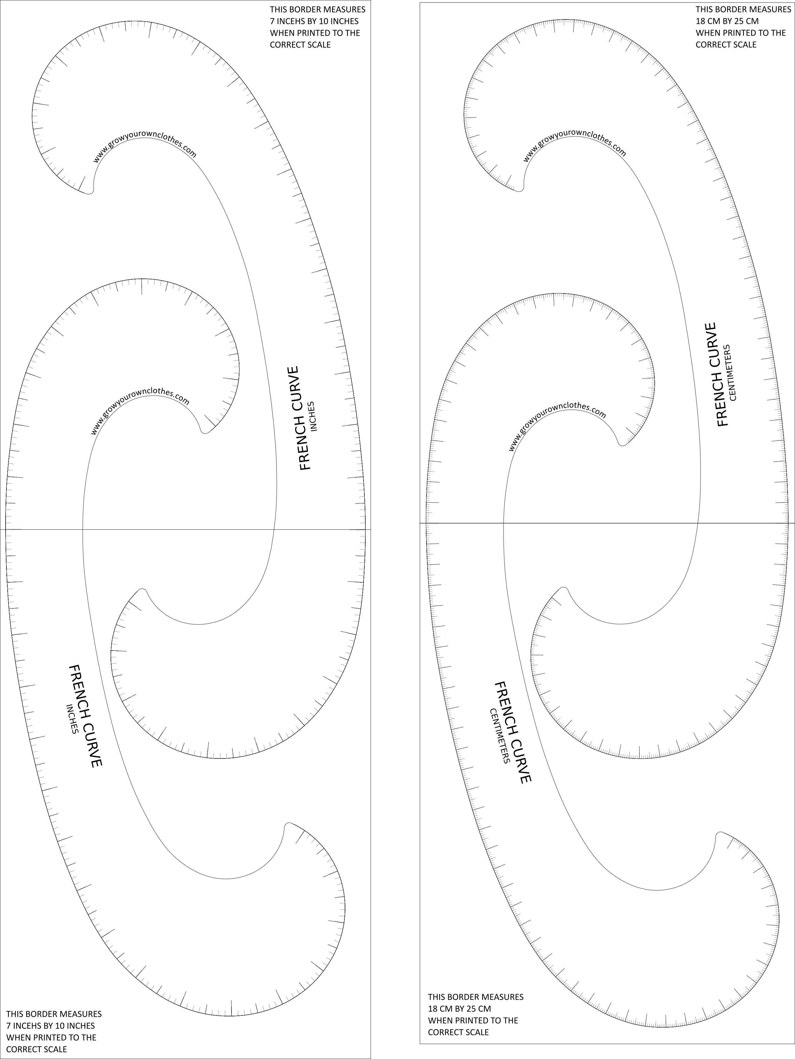 graphic relating to Free Printable Mirrored Numbers called No cost Printable Mixture French Curve Expand Your Personalized Clothing